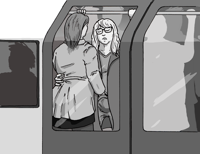 touching your loved one up on the tube is even more satisfying than tutting at people who try to get on before everyone's got off