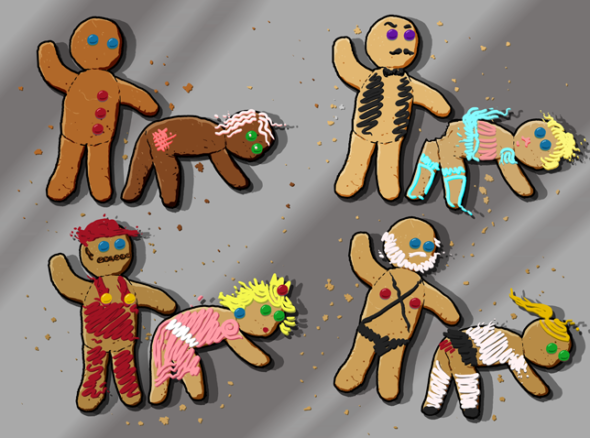 when i get a 3d printer i am going to make cutout gingerbread sex people templates