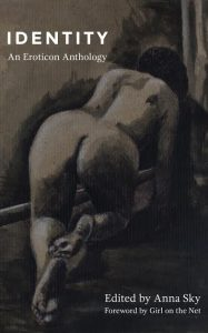 image of the front cover of identity - charcoal drawing of naked woman