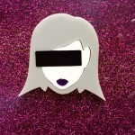 girl on the net badge made by Black Heart Creatives