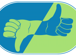 thumbs up thumbs down in green