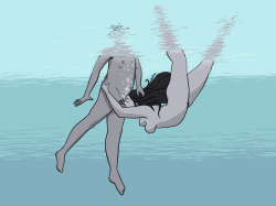 if i were a mermaid i could give an underwater blow job to the mermaid king and he'd make me queen of all the sea