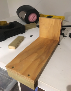 Wooden mount for fleshlight launch
