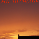 Title of book against a sunset sky, with a silhouetted roof in the foreground. At the bottom of the picture is the tagline 'a novel of faith, feminism and kinky sex'