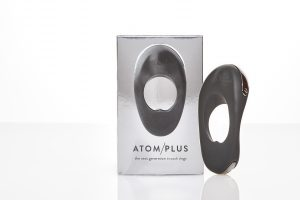 Box and sex toy - ATOM plus cock ring, which gives my partner a seriously big hard dick