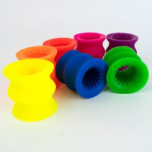 Short tectured silicone sleeves in a variety of UV colours
