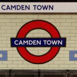 Image of Camden Town underground sign in Camden station, the setting for this casual encounter